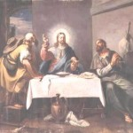 FTB97013 The Supper at Emmaus (oil on canvas) by Brusaferro, Girolamo (1679-1745) oil on canvas San Nicolo dei Mendicanti, Venice, Italy Italian, out of copyright
