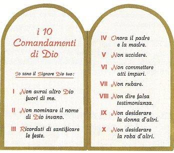 I 10 comandamenti cercare la fede - Tavole dei dieci comandamenti ...
